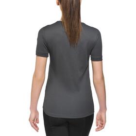 Odlo Cubic Camiseta Interior Manga Corta Cuello Redondo Mujer, ebony grey/black